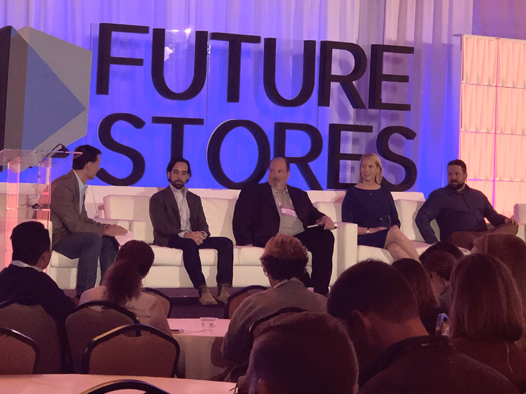 A panel discusses retail innovation at Future Stores